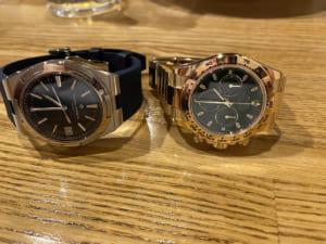 二本の腕時計